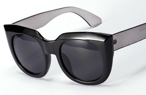 Retro Looks Wide Frame Oversized Sunglasses