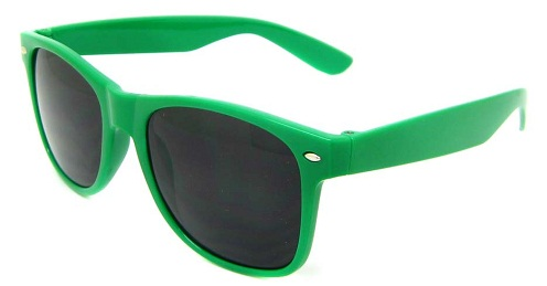 Retro oval Green Sunglasses
