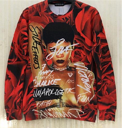 Rihanna Red Roses Unisex Sweatshirt