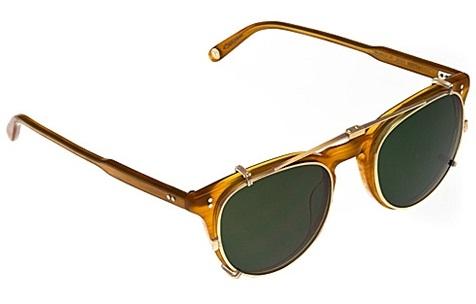 Round Clip On Sunglasses1