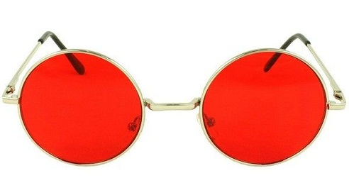 Round Shaped Red Sunglasses
