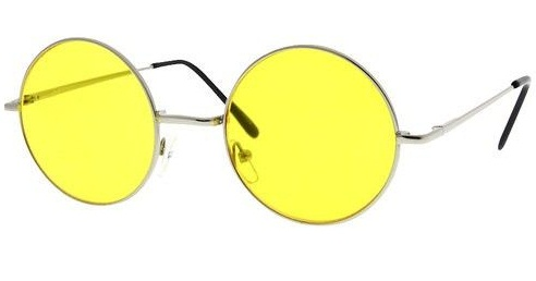 Round Yellow Sunglass
