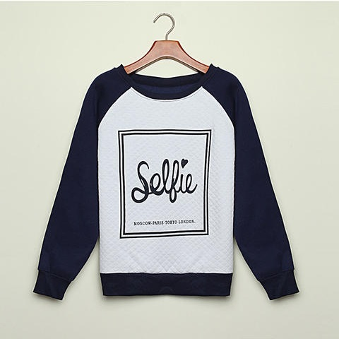 Rubber print sweatshirt