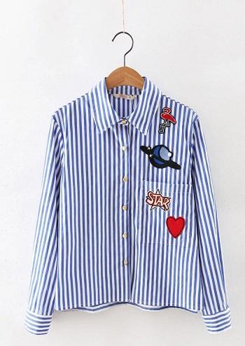Shirt Designed with Cartoon Sticker