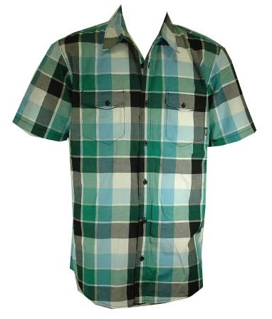 Short sleeve flannel shirt for men