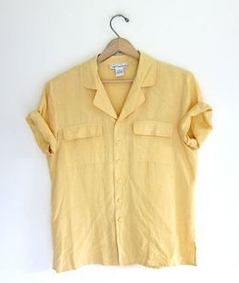Silk yellow shirt