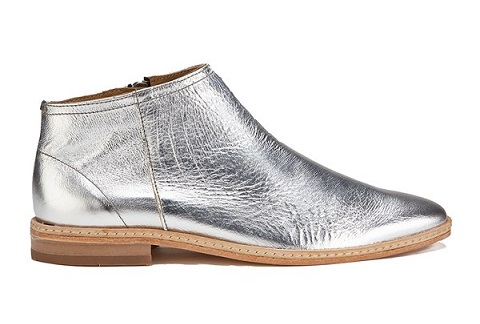 Silver Boots men Shoes
