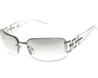 Silver Colour Rimless Sunglasses for Women