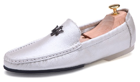 Silver Loafers for men