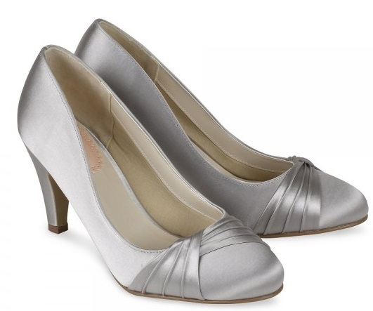 Silver satinwomen Shoes