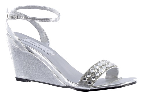 Silver wedge women Shoes
