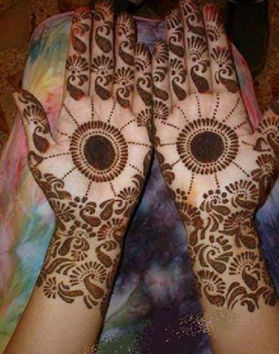 Simple Dotted Circular Mehndi