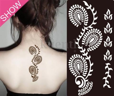 Sizzling Mehndi Stencil for Back Shoulders