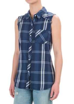 Sleeveless women's flannel shirt - Copy