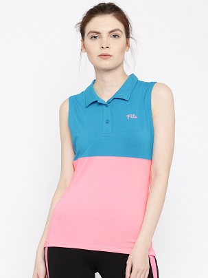Sleeveless women's polo shirt