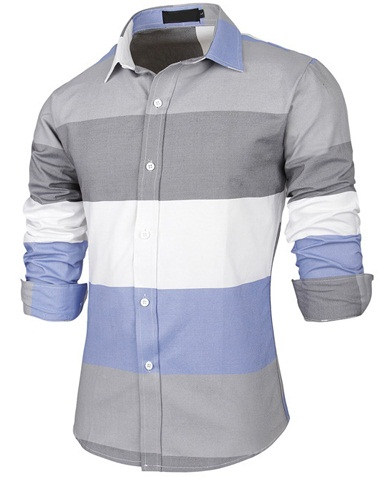 Slim Fit Casual Button up Shirts for Men