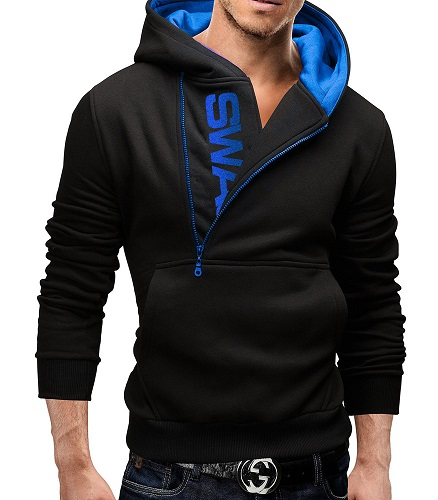 Slim Fit men's Hooded Sweatshirt