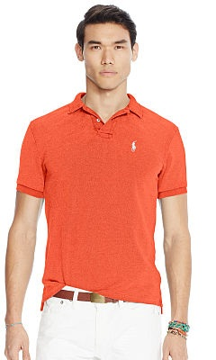 Slim fit men's polo shirt