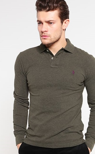 Slim fit polo neck shirt