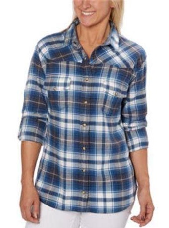 Slim fit women's flannel shirt