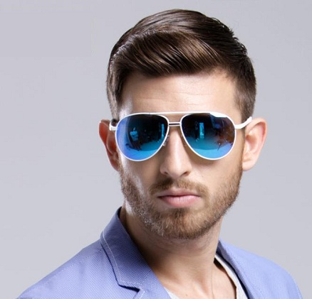Smart Blue Mirrored Lens Sunglasses for Boys