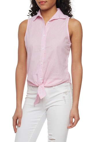 Smart Stripped Button Up Shirts for Girls