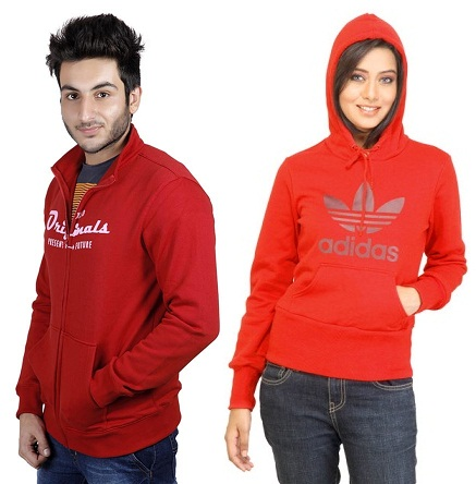 Softest Red Sweatshirts with Different Neck Styles