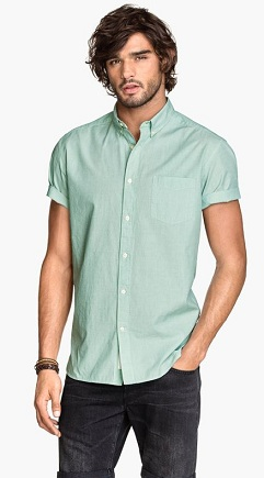 Spring green Colored Shirt