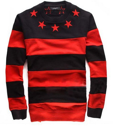 Star Stripped Fleece Men's Sweatshirt