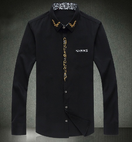 Style Embroidered Men's Party Shirt