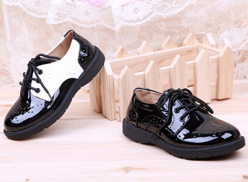 Stylish Leather School Shoe for Boys