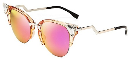Stylish Pink Lens Mirrored Sunglasses for Women