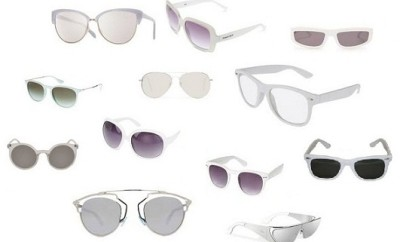 Stylish Sunglasses with White Colour Frames and Lenses