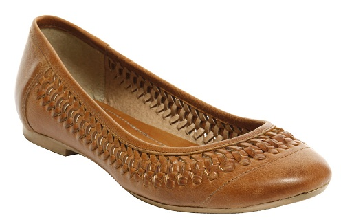 Tan Brown Formal Leather Flat Shoes