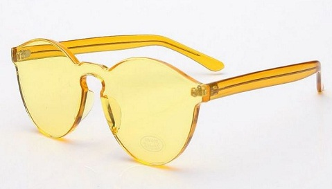 Transparent Lens Yellow Sunglass