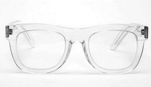 Transparent White Sunglass