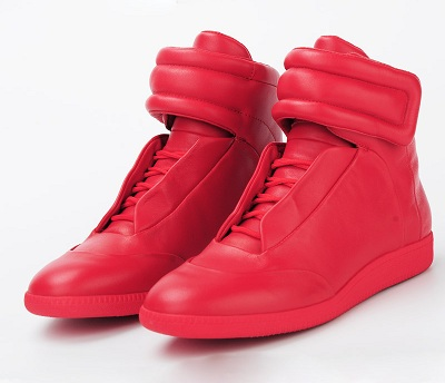 Trendy Casual Red Boots for Men