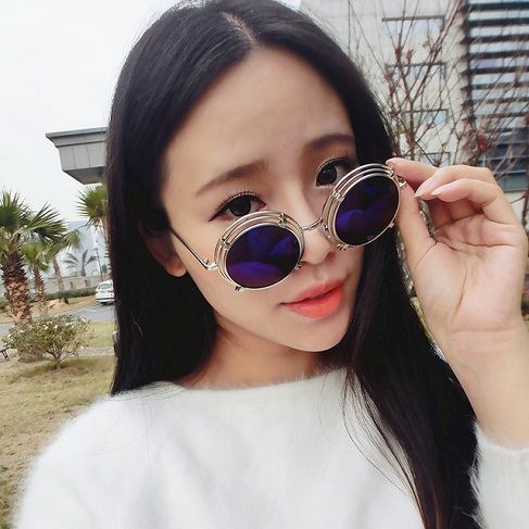 Triple Frame Retro Sunglasses
