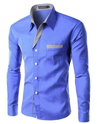 Turn Down Collar Stripped Shirts for Men