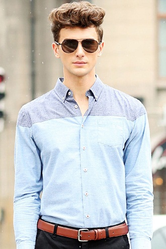 Two Colored Designer Shirt