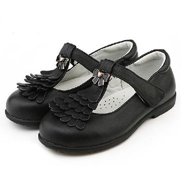 Unique style black shoes