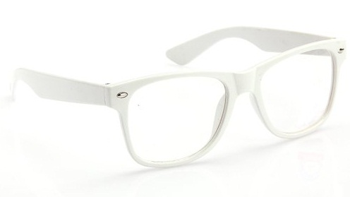 Unisex White Sunglasses
