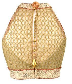 Golden Patchwork Designer Blouse 6