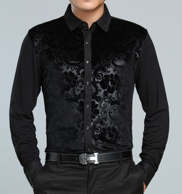 Velvet Shading Black Shirt