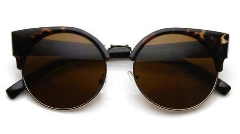 Vintage Indie Round Cat Eye Sunglasses
