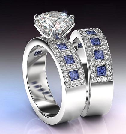 Vintage White Gold Rings for Men