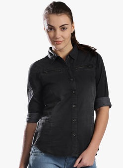 Washed Grey Shirts for women