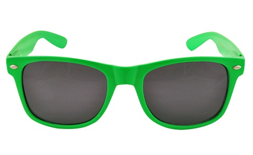 Wayfarer Type Green Sunglasses