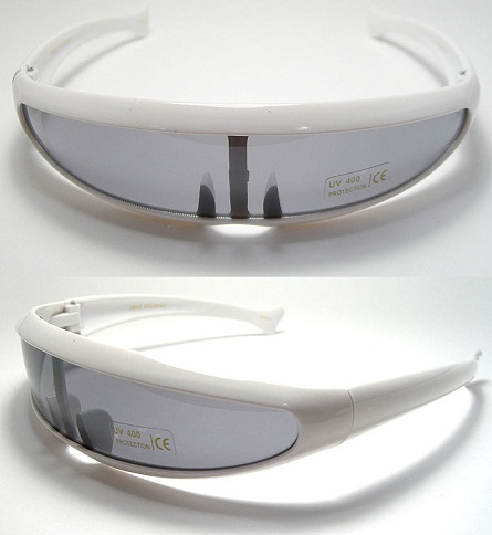 White Fibre Retro Sunglasses