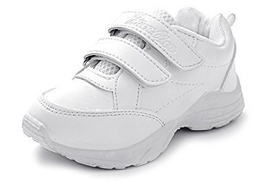 White Threes Straps School Shoe Boys